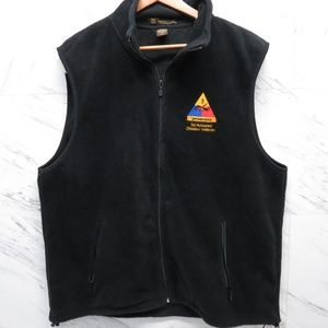 Harrington Black XL Spearhead Veteran Fleece Vest
